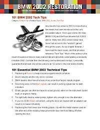 BMW Tech Tips PDF