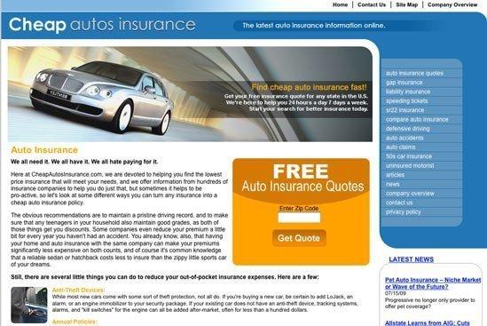 cheap autos insurance website
