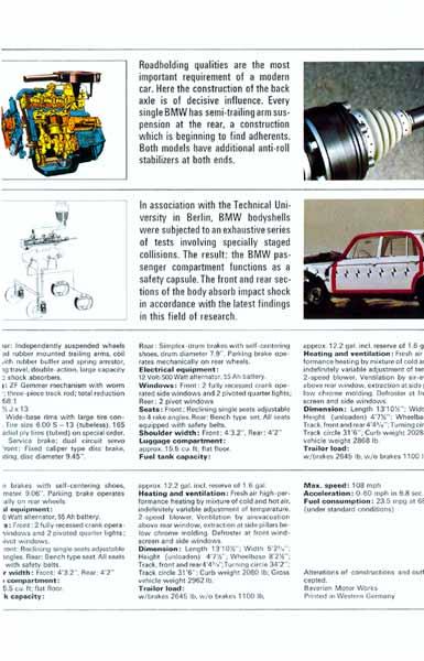 BMW 1600/2002 Brochure p11