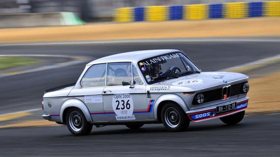 BMW 2002 Turbo on Racetrack