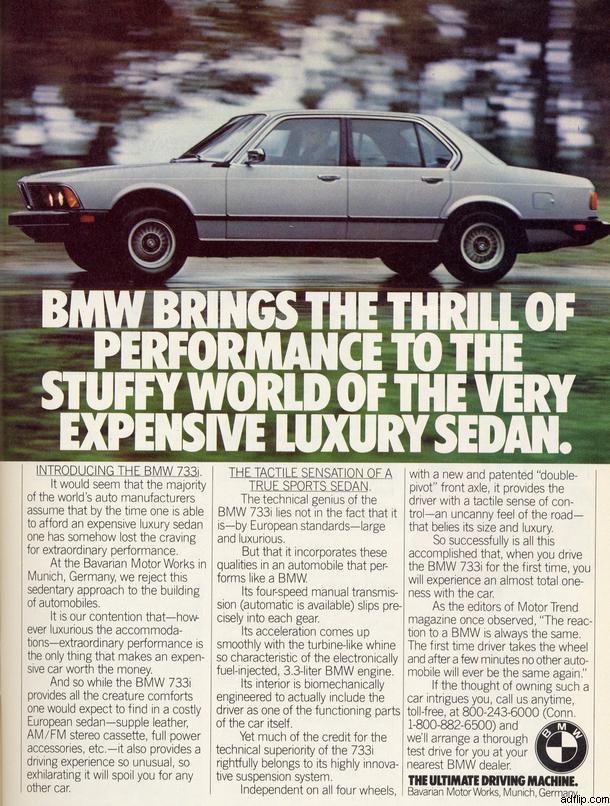 BMW 733 Print Ad