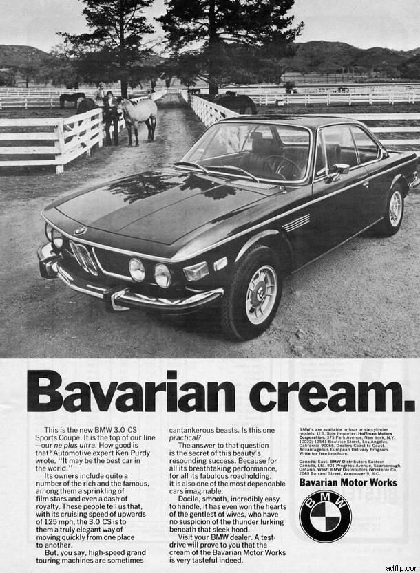 BMW 3.0 CS Print Ad