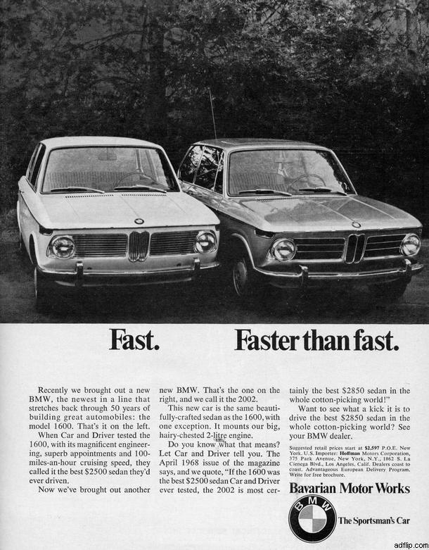 BMW 1600 Print Ad