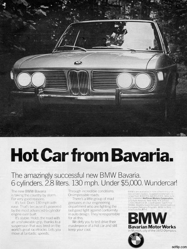 BMW Bavaria Print Ad
