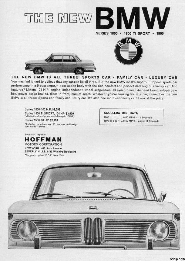 BMW 1800 ti Sport Print Ad