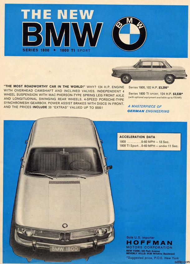 BMW 1800 Print Ad