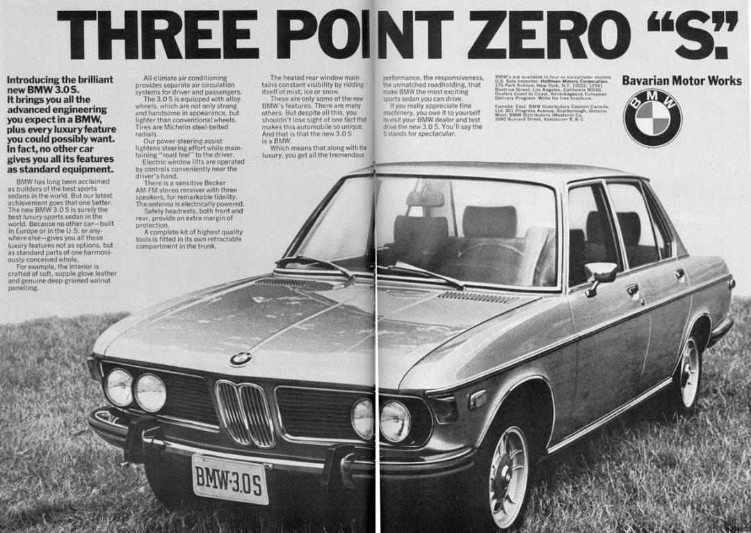 BMW 3.0S Print Ad